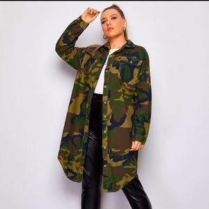 SOLD !!!! 3X Oversized Camo shirt/jacket BRAND NEW